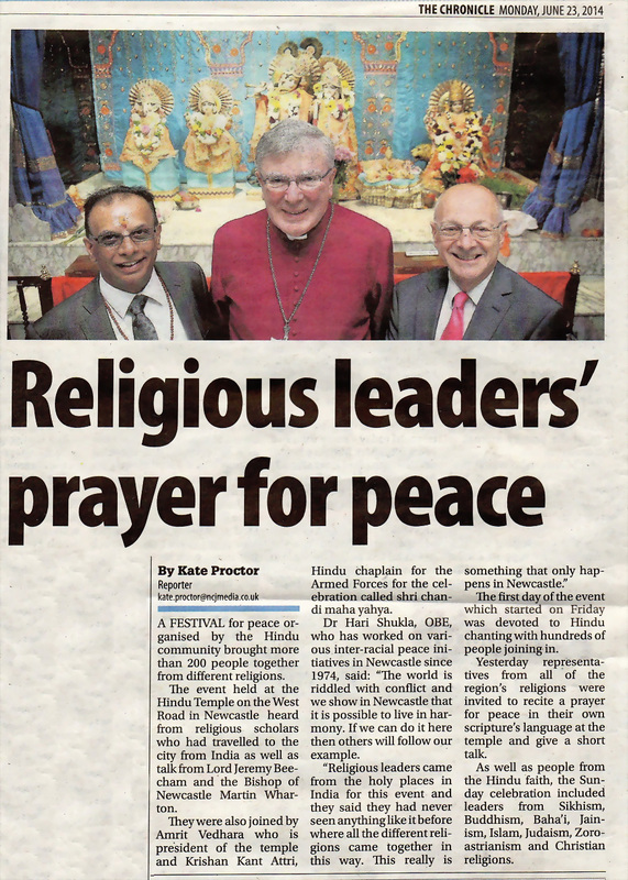 UK Religious leaders prayer for peace